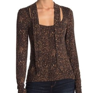 Free People Wild Thing Top Sz S, M Brown